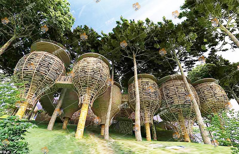《隐栖·林宿》,玖米度假木屋《隐栖·林宿》系列,木屋价格/图片/设计