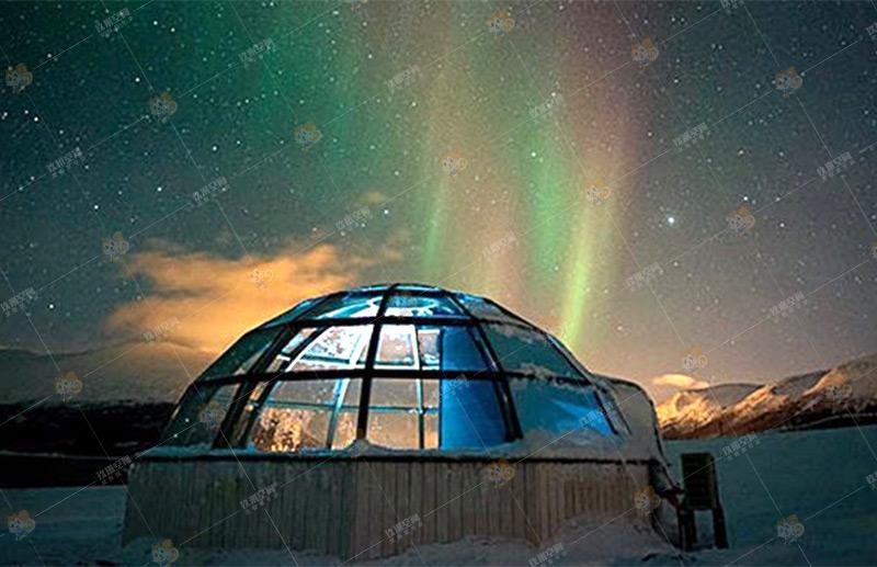《天空·北极光》,玖米度假木屋《天空·北极光》系列,木屋价格/图片/设计