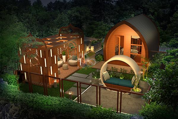 美轮美奂的现代化铝制装配式木屋图片